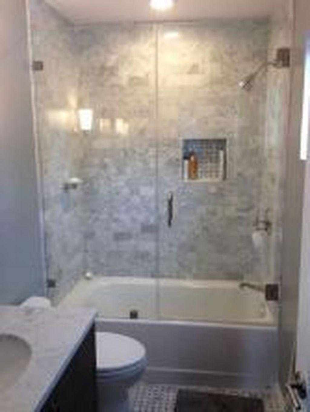 34 Fabulous Small Bathroom Tub Shower Combo Ideas In 2020 With Images Bathroom Design Small Bathroom Design Small Bathroom