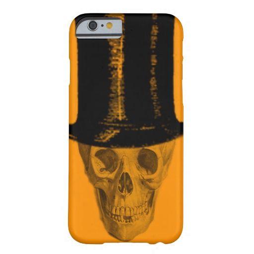 Skull Top Hat Orange iPhone 6 Case
