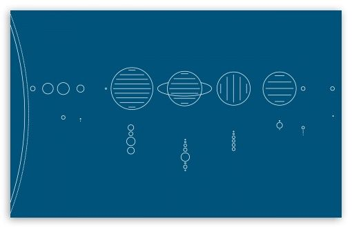 Minimal Solar System Hd Desktop Wallpaper Widescreen High Definition Fullscreen Dual Monitor Solar System Tattoo Solar System Solar System Wallpaper