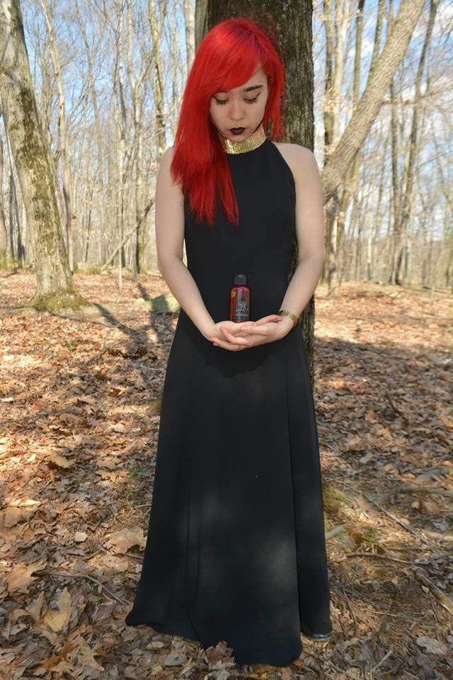 Lovely Goth Moonpie With Lunatik Hair Dye Color Blood