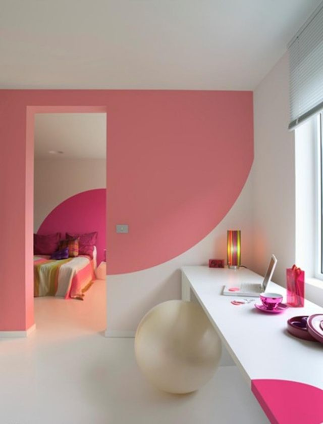 Kinderzimmer Streichen Ideen Rosa Weiss Deko Einrichtungsideen