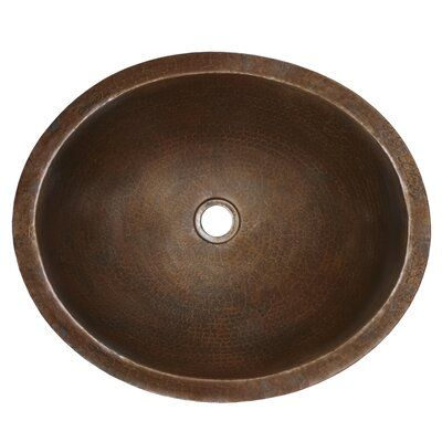 Photo of Native Trails, Inc. Classic oval under-counter metal sink