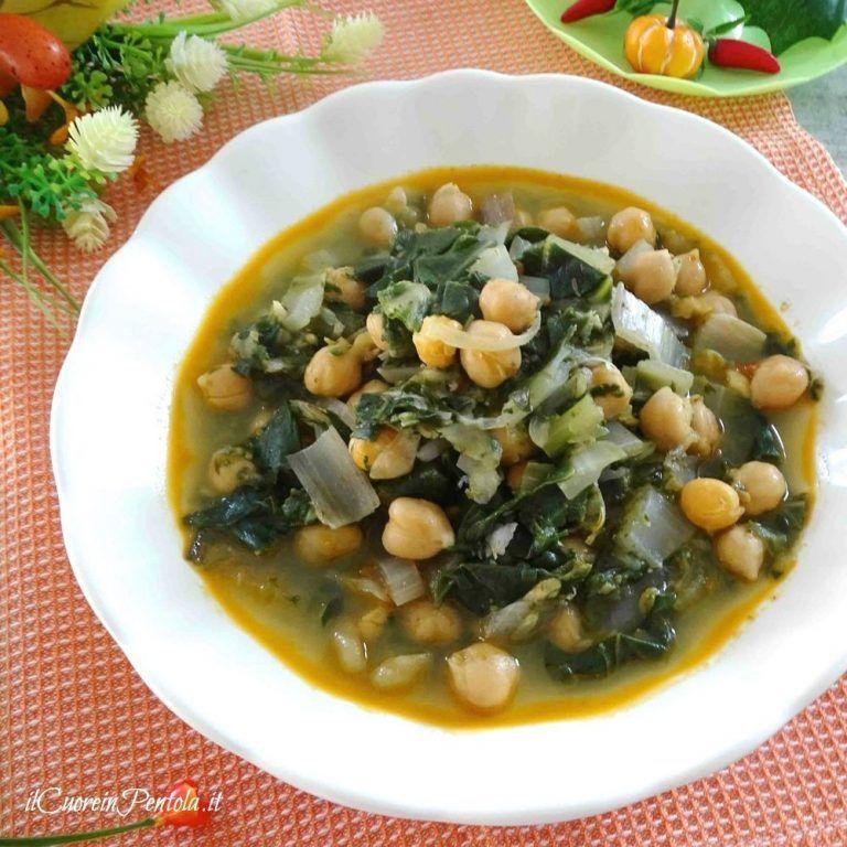 Zuppa di ceci e cicoria – Ricetta Il Cuore in Pentola