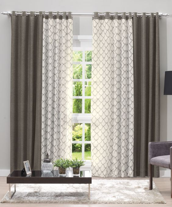 Dos cortinas | curtains en 2019 | Home curtains, Curtains y Modern ...