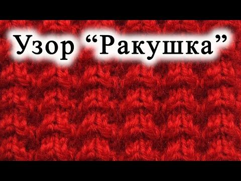 "▶ Вязание спицами. Узор ""Ракушка"" - YouTube"