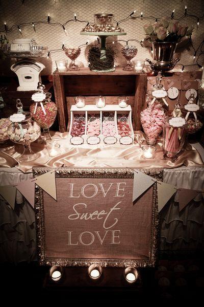 Rustic Vintage Wedding Party Ideas Photo 1 Of 29 Candy Bar Wedding Wedding Candy Rustic Vintage Wedding