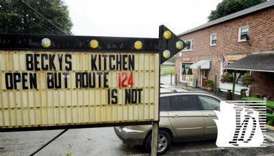 The sign outside Becky's Kitchen in Lower Windsor Township, Friday, August 10, 2012, laments road closures which are costing it and other merchants business according to owner Becky Pfeiffer. The eatery is located on Prospect Road west of East Prospect. Bill Kalina photo bkalina@yorkdispatch.com