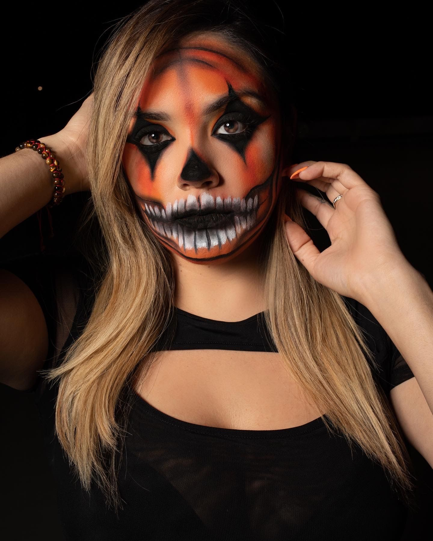 Skull Pumpkin Makeup! Make sure to tag me if you recreate