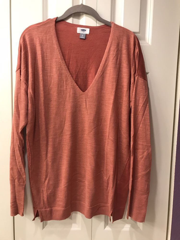 Old Navy 2 Tone Sweater XL Rust #fashion #clothing #shoes