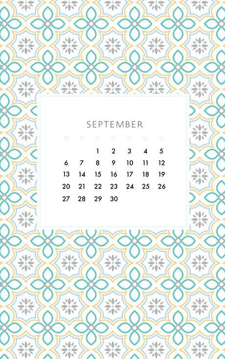 September Vintage Tile Desktop And Phone Wallpapers By May Designs
