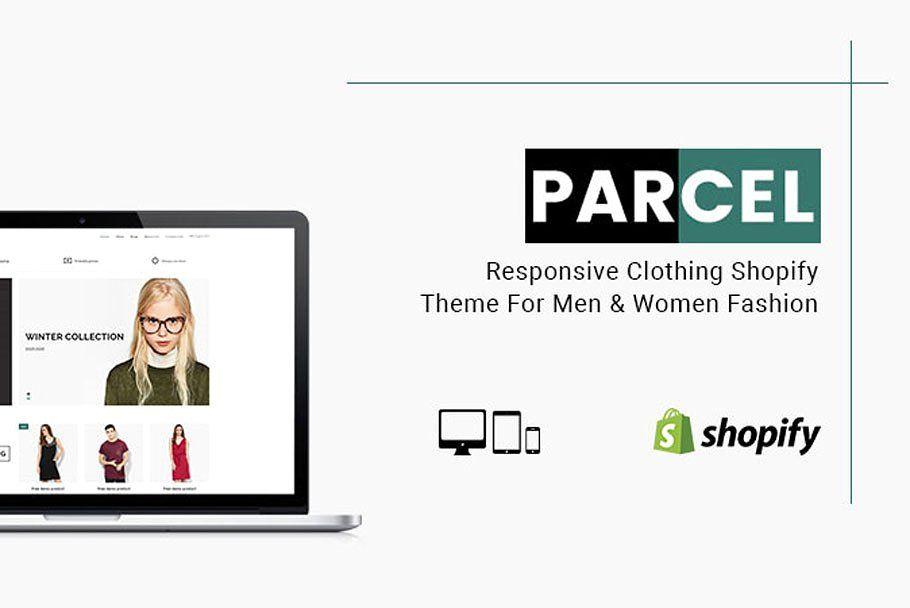 Parcel Clothing Shopify Theme Shopify theme, Social
