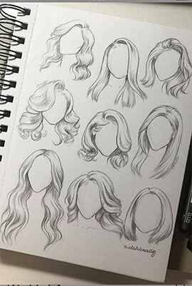 Karakalem Saç Çizim Teknikleri - #cartoon #Çizim #Karakalem #Sac #Teknikleri #pencildrawings