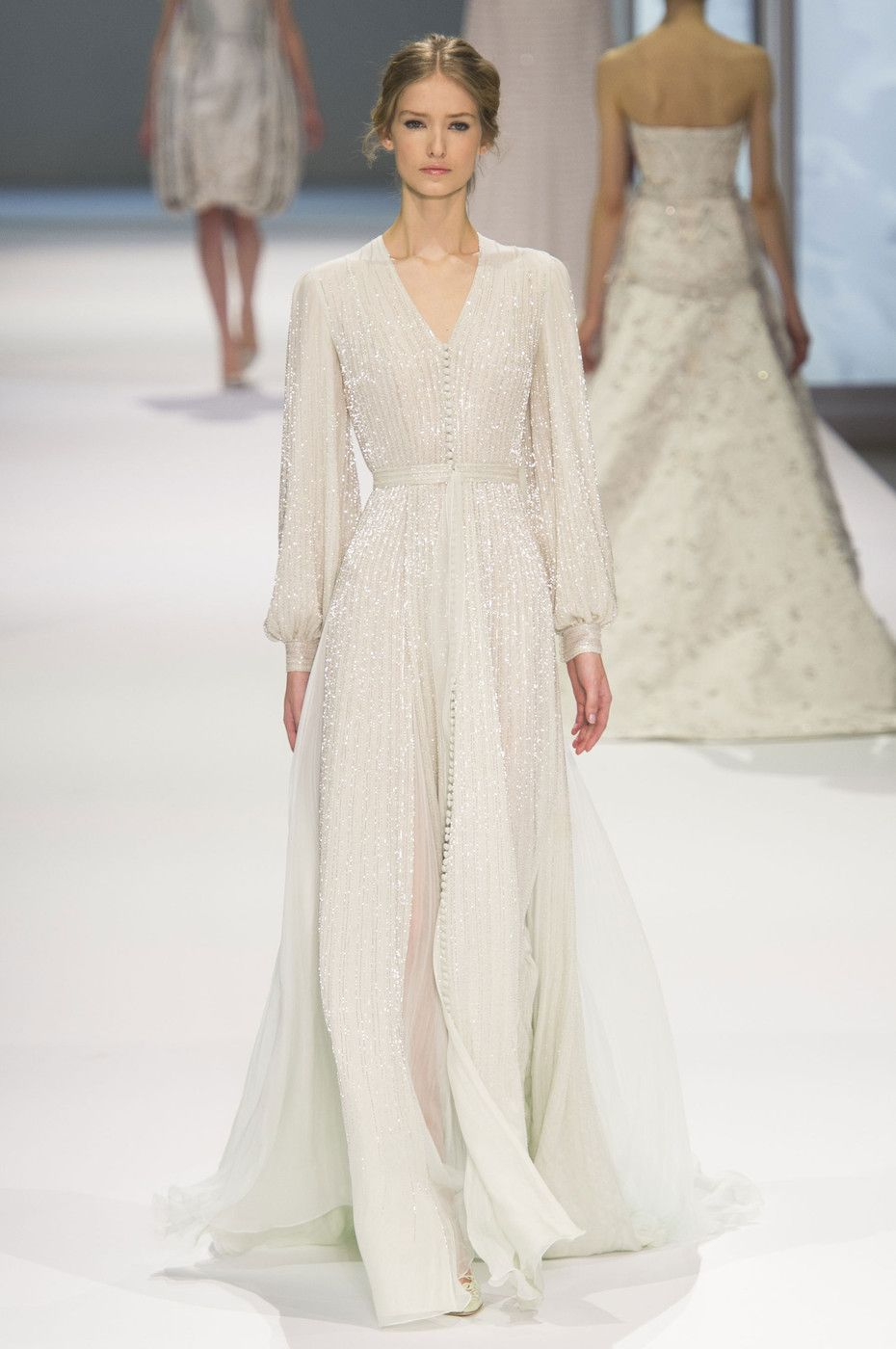 Ralph u russo at couture spring long sleeve maxi maxi