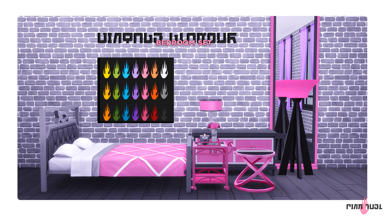 """pink-fuel  """" Vintage Glamour Bedroom Set ➟ You need to have the Vintage  Glamour Pack in order for this to show up in your game. ➟ 17 recolors total. 5e66e0b2e1c2e"""
