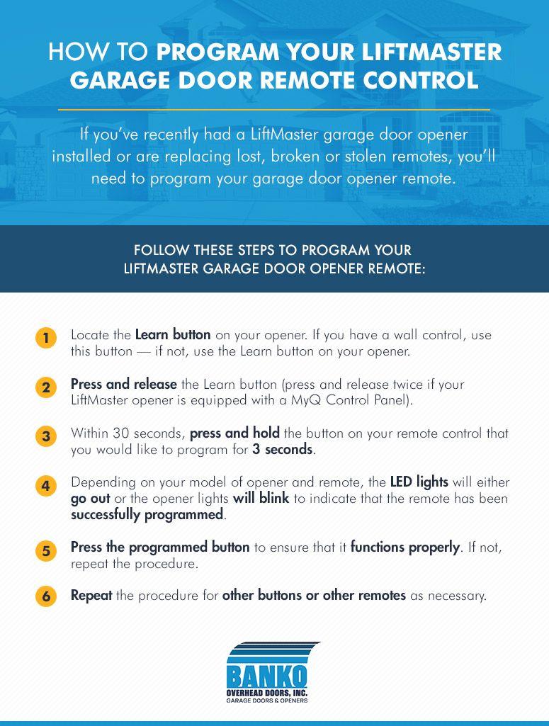How To Program Your Liftmaster Garage Door Remote Control Di 2020 Kesehatan