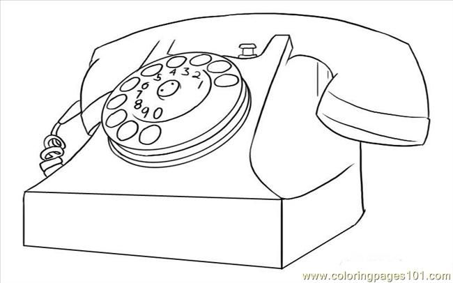 Coloring Picture Of A Telephone Vintage Phones Coloring