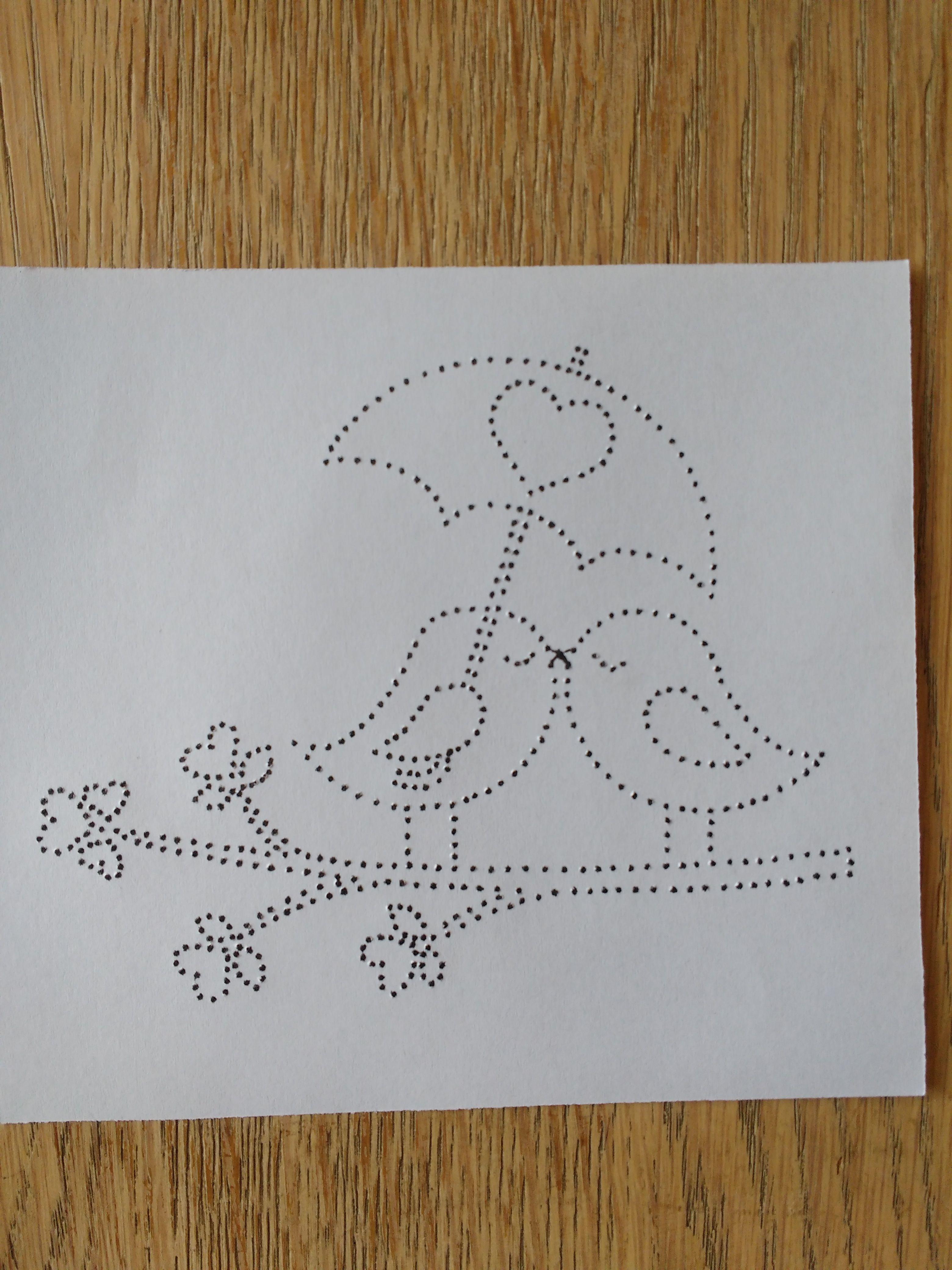 twee vogels met paraplu | paper embroidery - card ideas | Pinterest ...