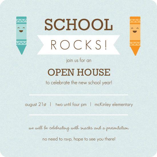 Kindergarten Roundup School Materials Inspiration Open House