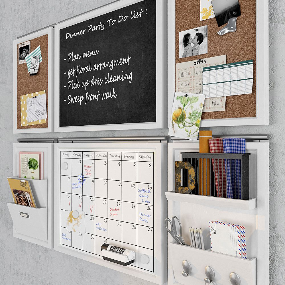 3d Pottery Barn Daily Kitchen Home Command Center Home Office