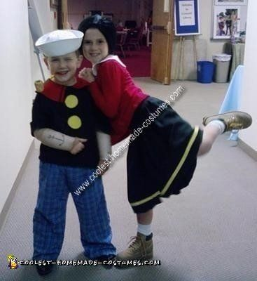 Coolest+Popeye+and+Olive+Oyl+Child+Couple+Costume+Idea