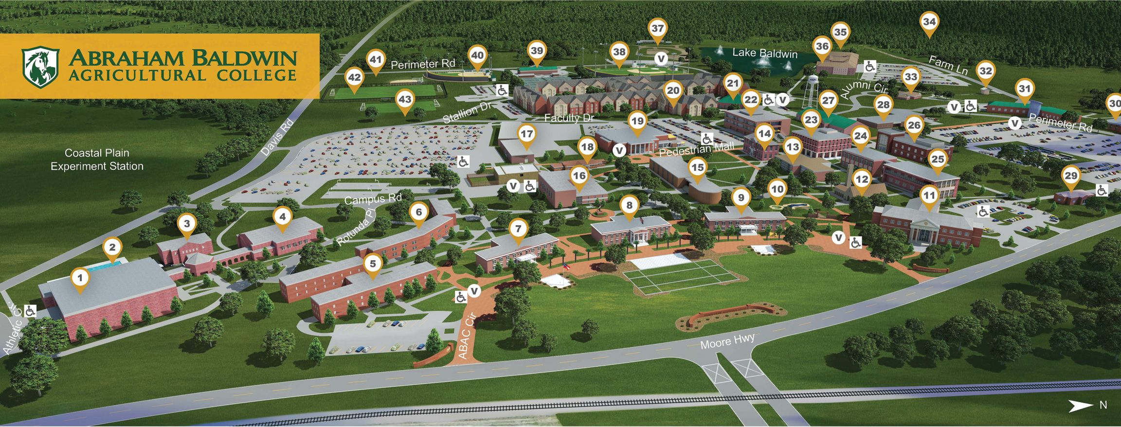 Campus Map Abraham Baldwin Agricultural College LEVI