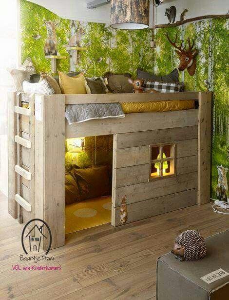 Clubhouse Bunk Bed Woodworking Pinterest Kids Bedroom Bedroom