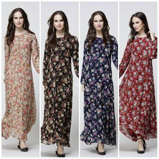 Maxi dress brokat muraham