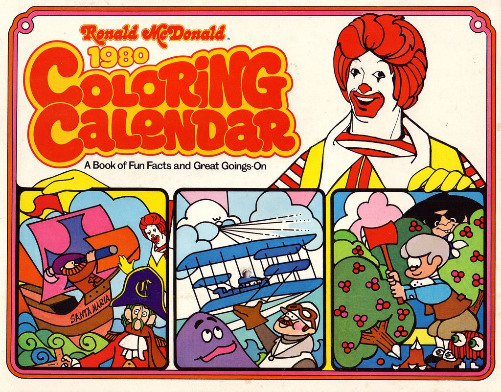 mcdonalds 1979 calendar | Ticking off the days with Ronald and his ...