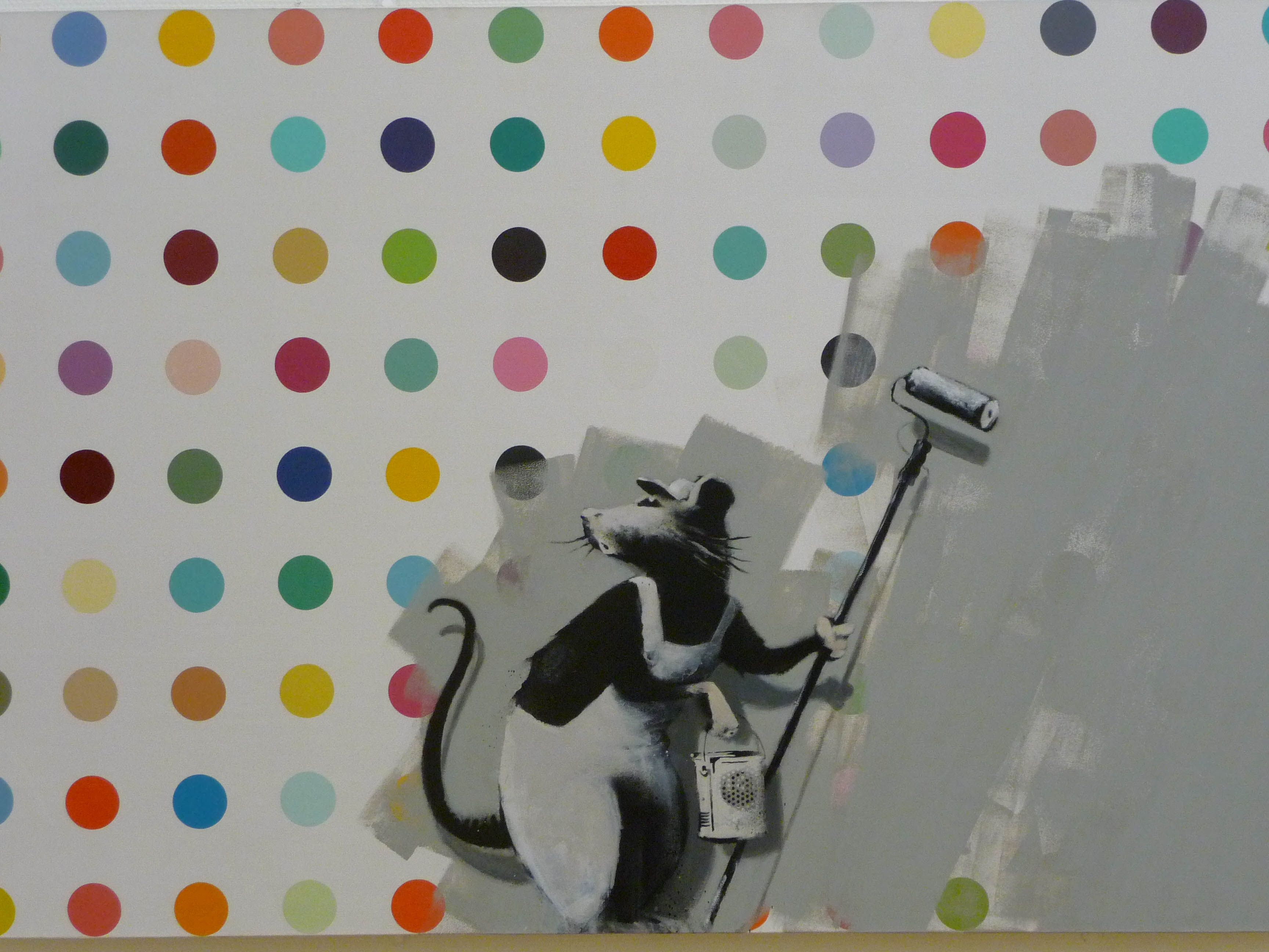 Banksy 'improves' Damien Hirst's LSD