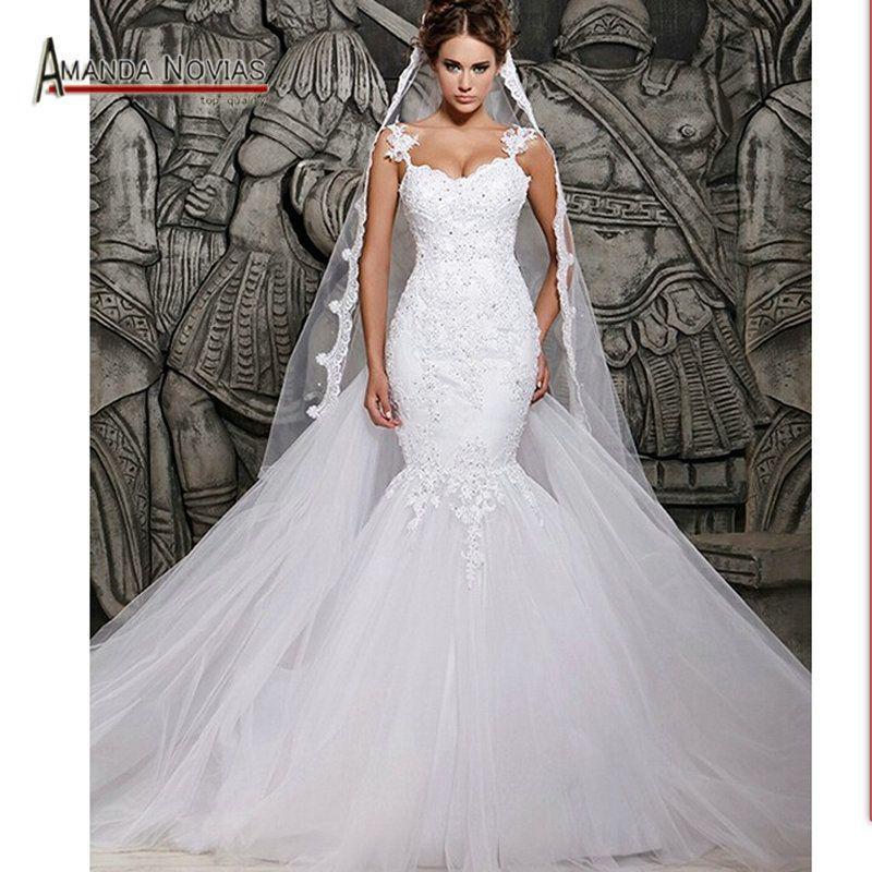 White Lace Mermaid Wedding Dresses
