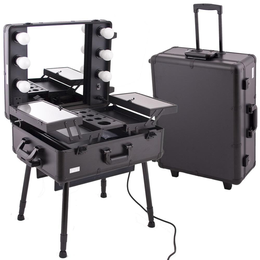 Mobile Professional Studio Makeup Case W Light Pretty Cool