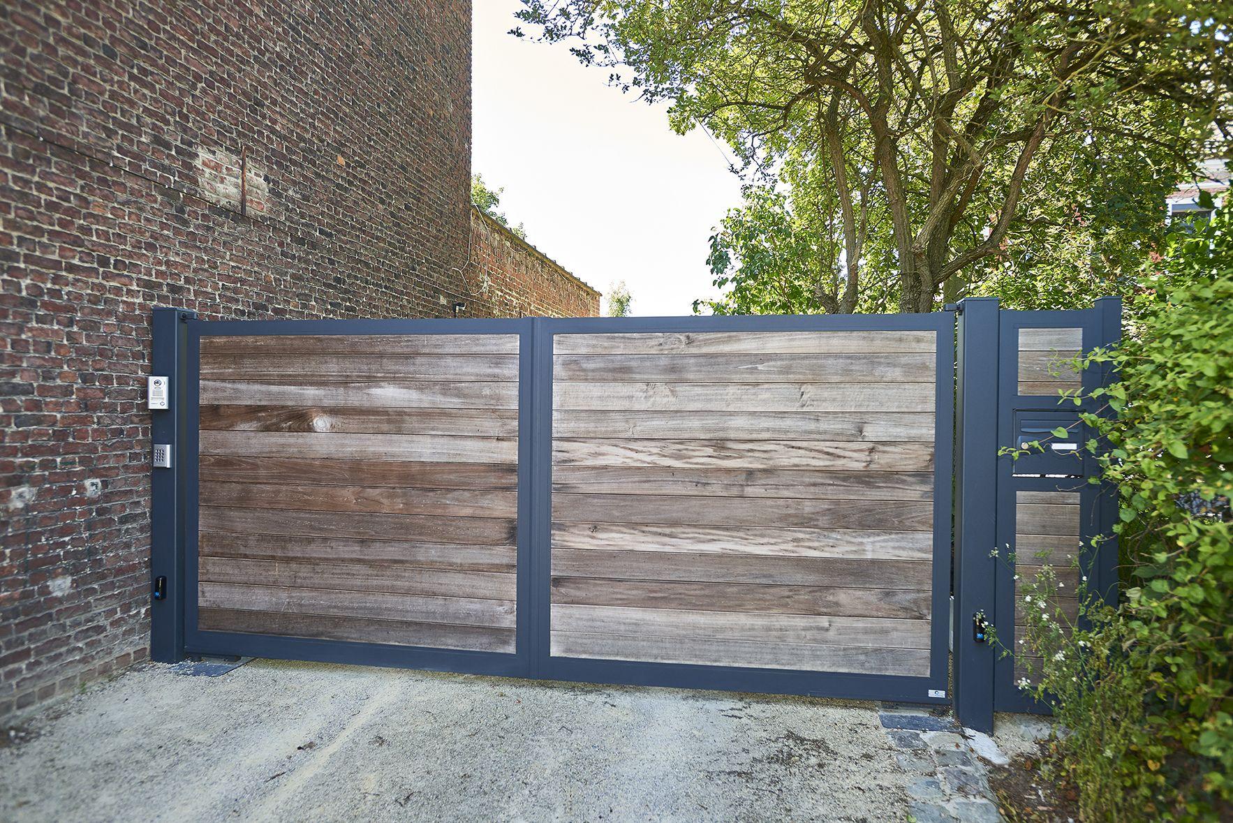 ensemble portail en cadre aluminium