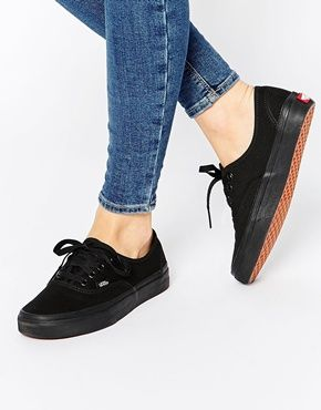Vans Authentic Classic Lace negro Mono Lace Classic Up Trainers Wishlist: Zapatos 8b7ccd