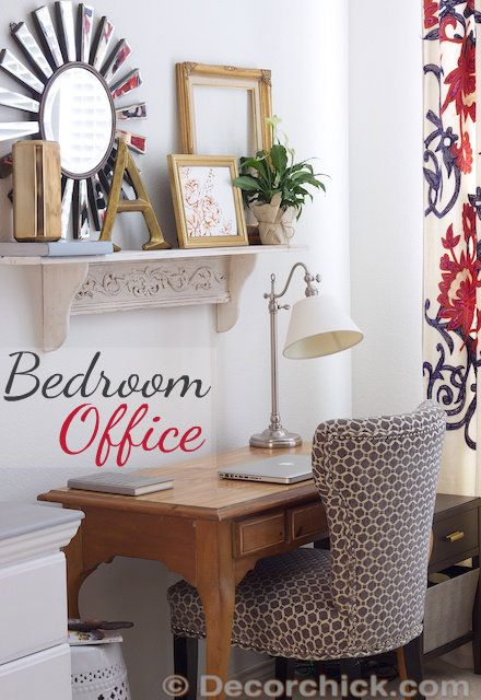 office in the bedroom www decorchick com love this 17304 | 78b10f6196f64a46adb52ba38c82bd00