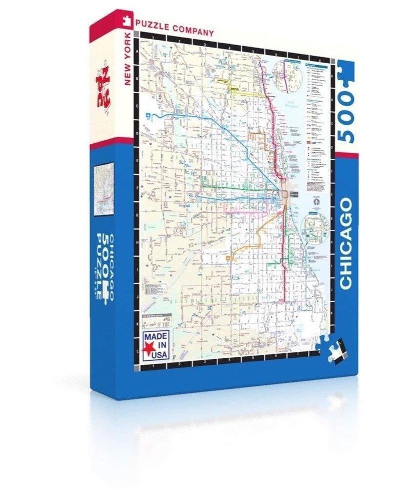 New York Subway Map Puzzle.New York Puzzle Company Chicago Transit Cta Transit Puzzle 500