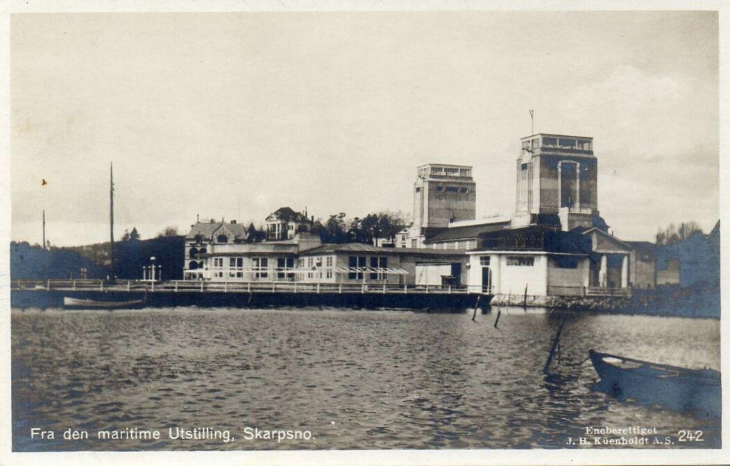 Oslo Skarpsno Den maritime utstilling 1914 (Jubileumsutstillingen) utg Küenholdt