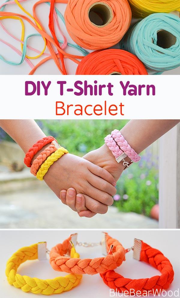 Photo of DIY Armband aus T-Shirt Garn flechten