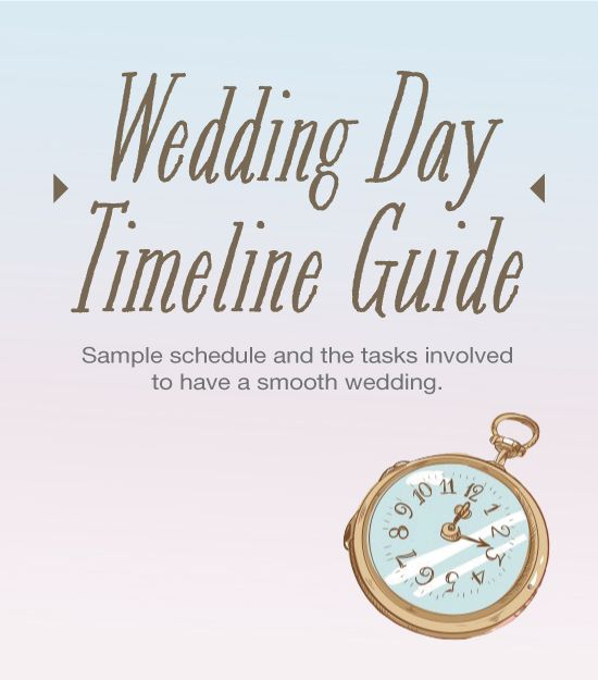 Actual Wedding Day Timeline Guide And Tasks
