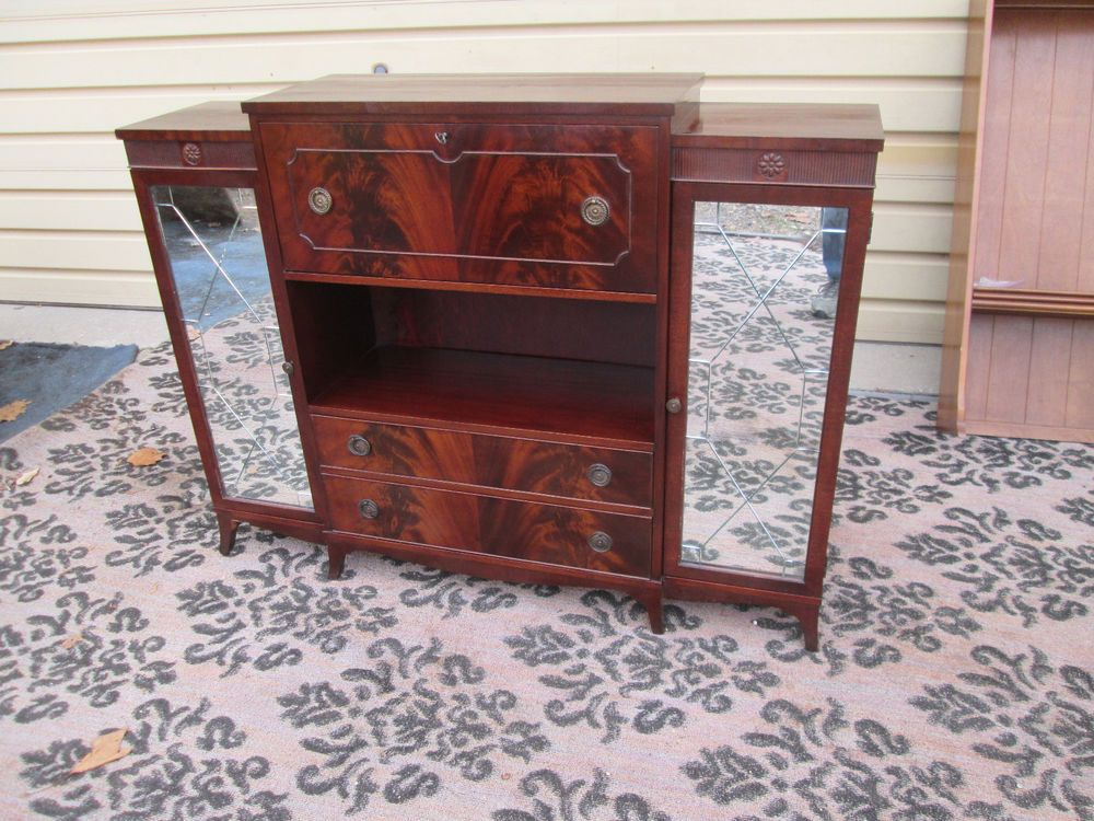 54591   QUALITY STEUL Furniture Antique Mahogany Buffet Sideboard With Desk #Traditional #STEUL