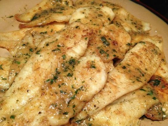 Easy Pan Fried Sole Fish With Lemon-Butter Sauce from Food.com: This is a pretty basic recipe but it is just delicious! You can use lemon pepper in place of black pepper.