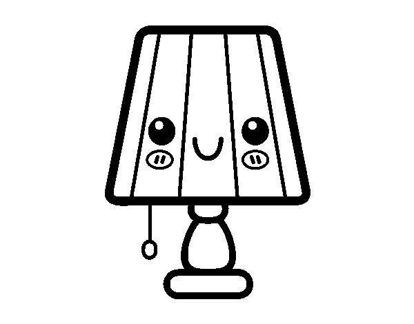 Dibujo De Lampara Dibujo De Una Lampara De Mesa Para Colorear Dibujos Net Lampara Para Colorear Dibujos Faciles Dibujos