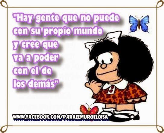 Para el muro: Frases con Mafalda