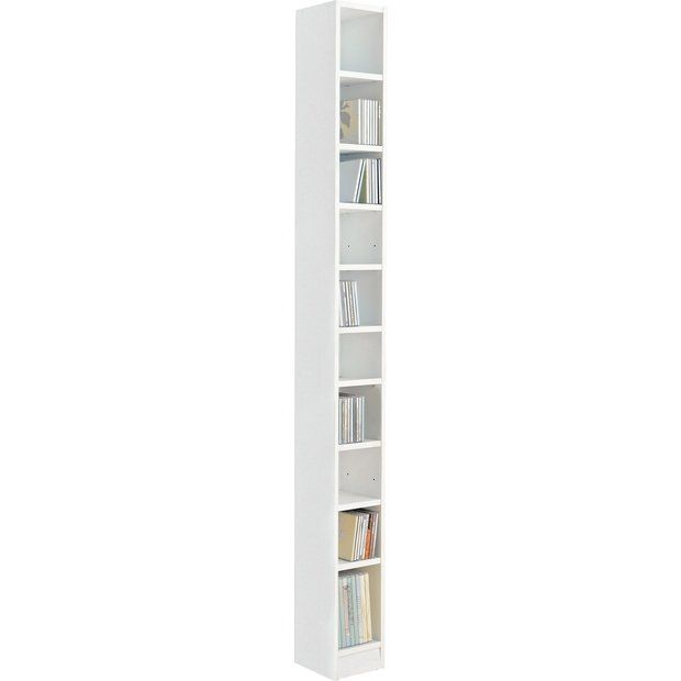 Buy HOME Maine Tall CD And DVD Media Storage Tower   White At Argos.co