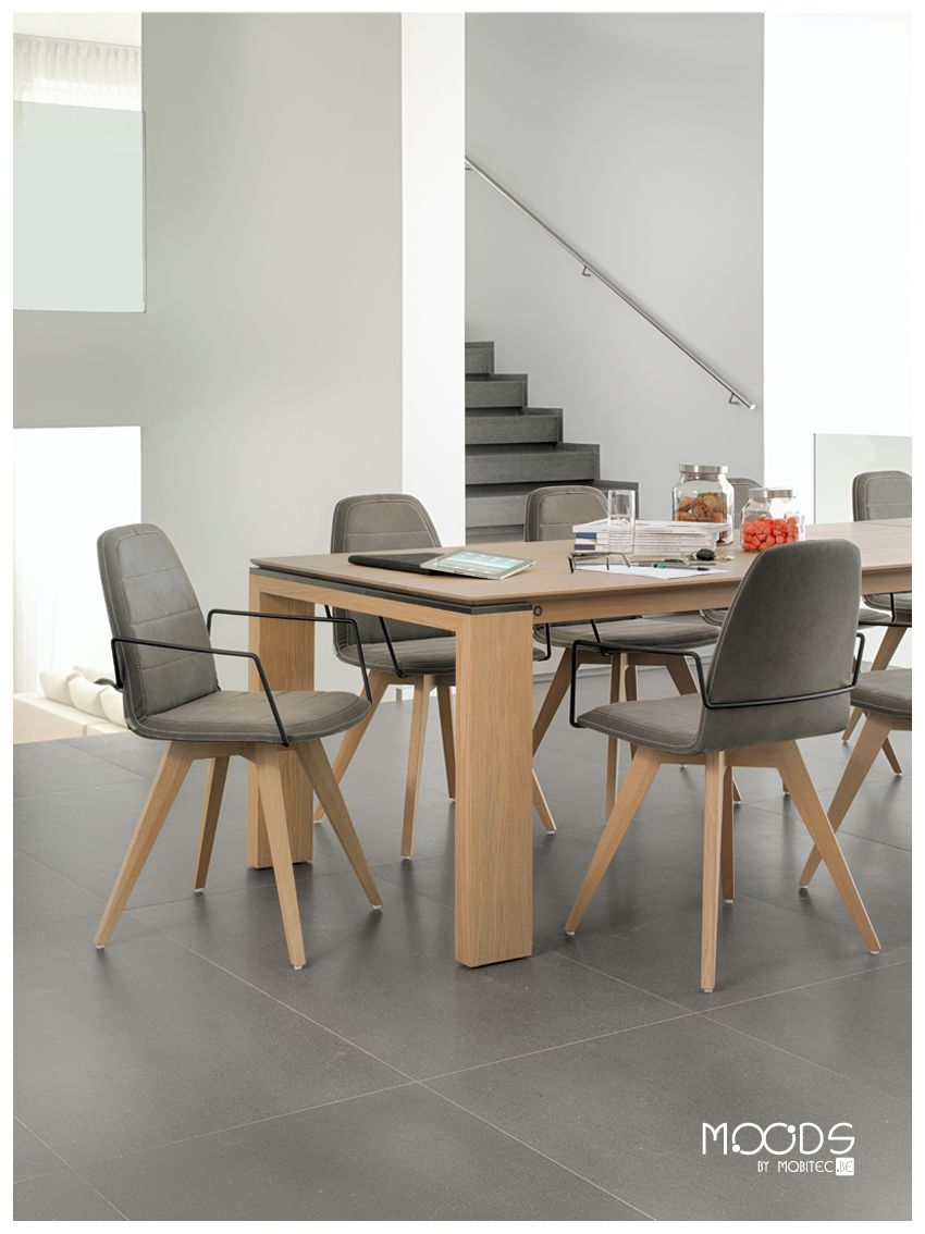 Chaise mood 14 bicouleur pieds bois table cardiff pieds bois by mobitec en - Table et chaise en pin ...