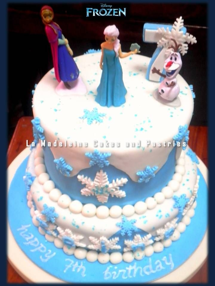 Disney Frozen 2 Layer Cake With Images Cake 2 Layer Cakes