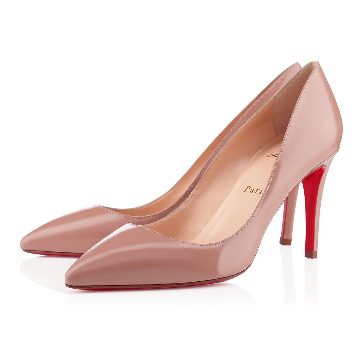 100% authentic 49d17 7ddcc Pigalle 85 Nude Patent Leather - Women Shoes - Christian ...