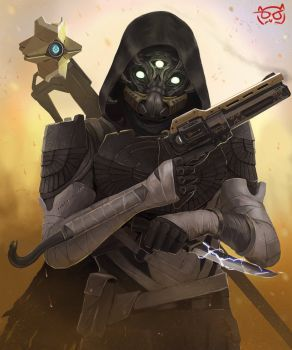 DeviantArt: More Like Guardian of Destiny - Female Hunter by