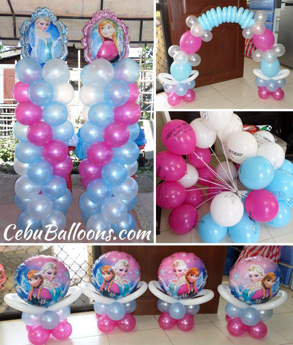 Disney frozen balloon design at l jaime st ladies for Frozen balloon ideas