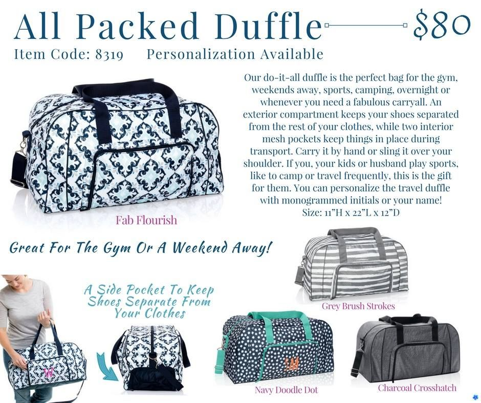23bc78250d Thirty-One All Packed Duffle Spring Summer 2018