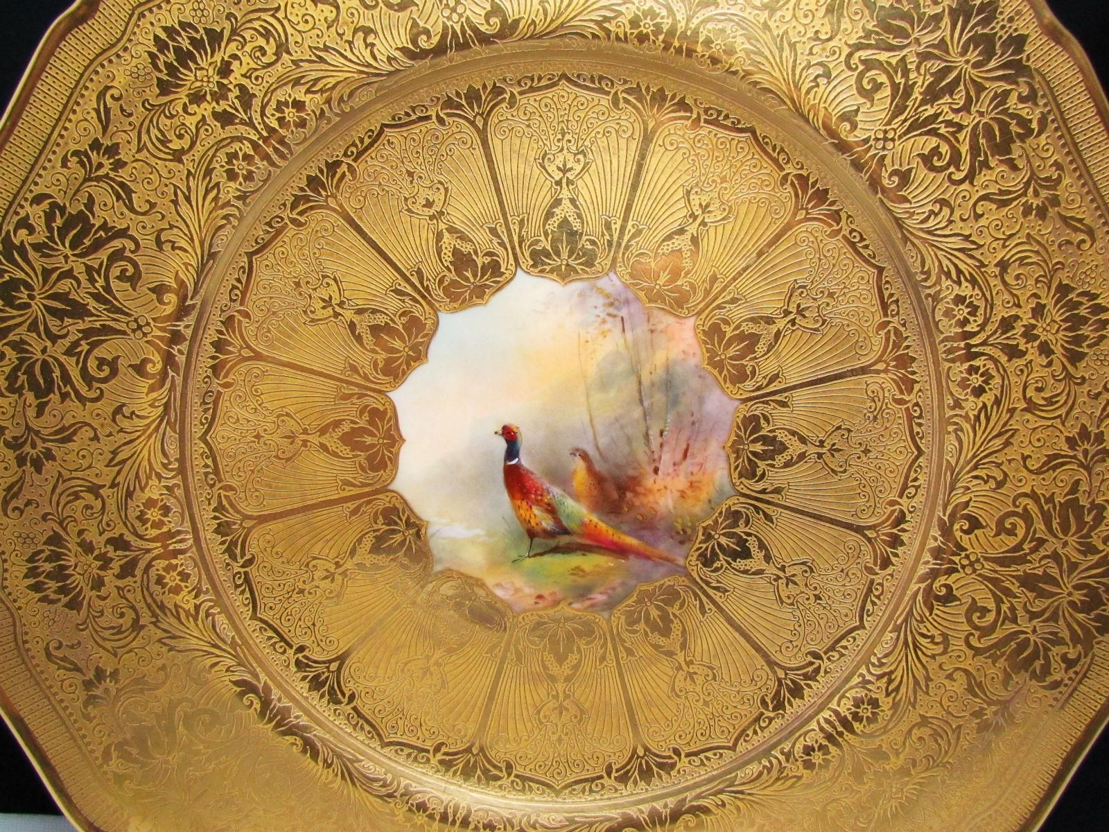 Detail ROYAL WORCESTER H.PAINTED ' PHEASANT ' CABINET PLATE